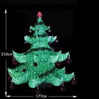 LED Хрустальная елка 2,1м