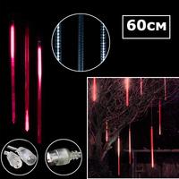 Светодиодная двухсторонняя сосулька 60х3см красный