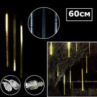 Светодиодная двухсторонняя сосулька 60х3см желтый
