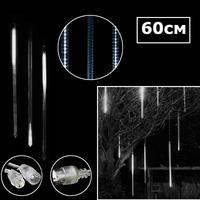 Светодиодная двухсторонняя сосулька 60х3см белый